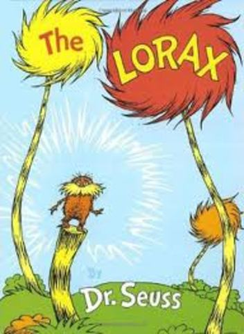 """Dr.seuss """"The Lorax"""" the book"""