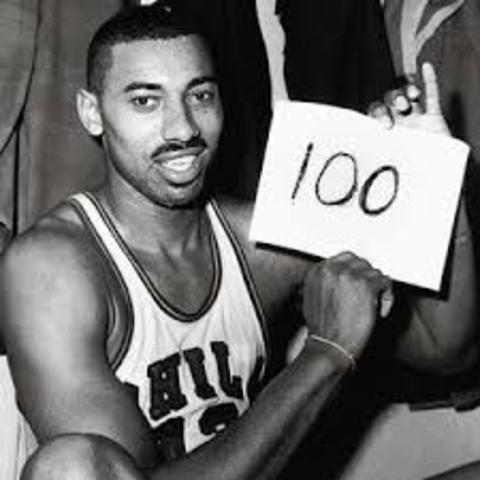 Wilt Chamberlain's big 100