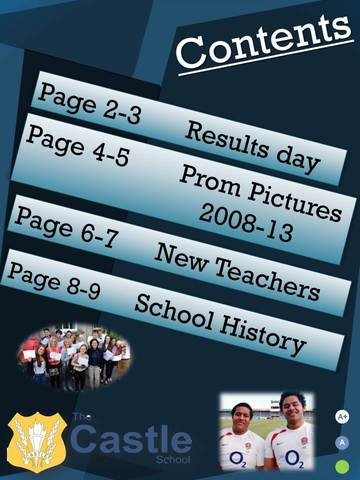 School Magazine Finished Contents Page