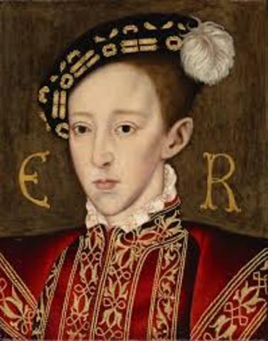 King Edward VI takes the throne