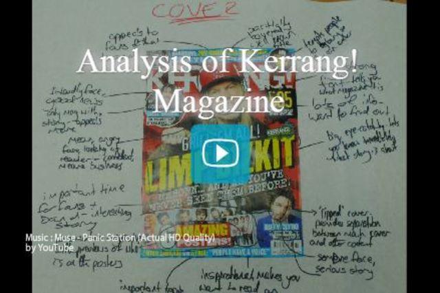 Analysis of Kerrang! Magazine