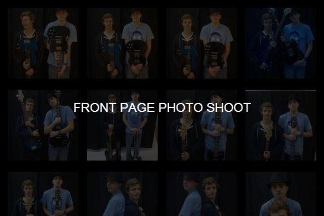 Front Page photo shoot