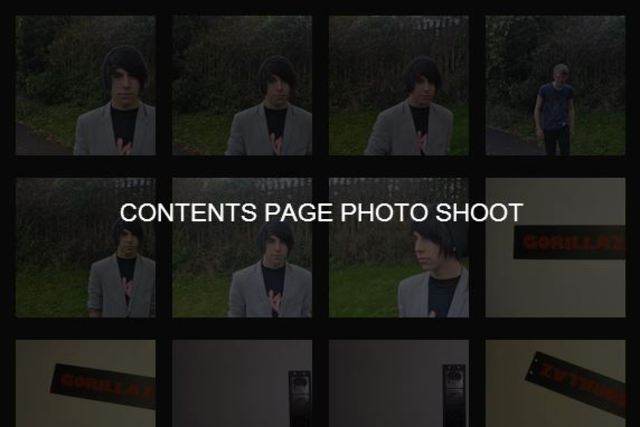 Contents Page photo shoot