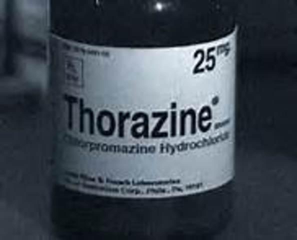 Chlorpromazine(Thorazine) first used in the treatment of schizophrenia