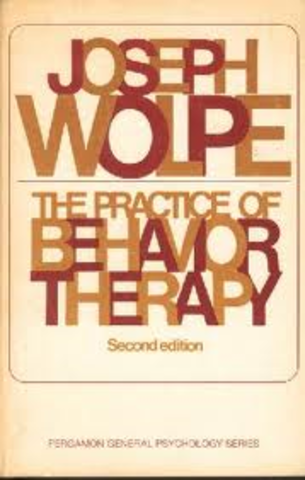 """Joseph Wolpe published """"The Practice of Behavior Therapy"""""""
