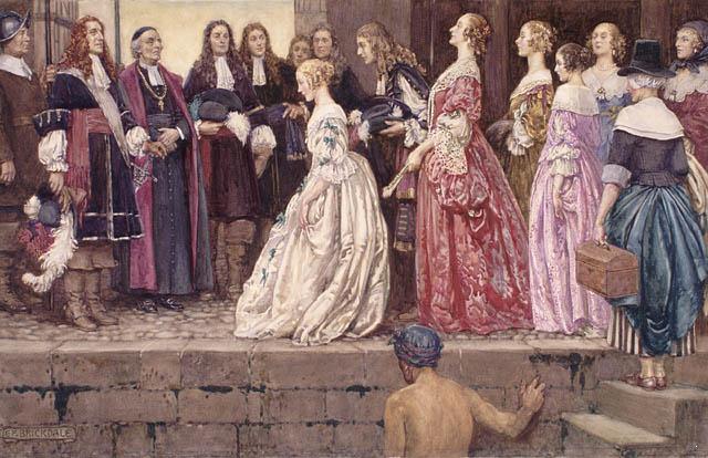 Arrivé des premières filles du roi