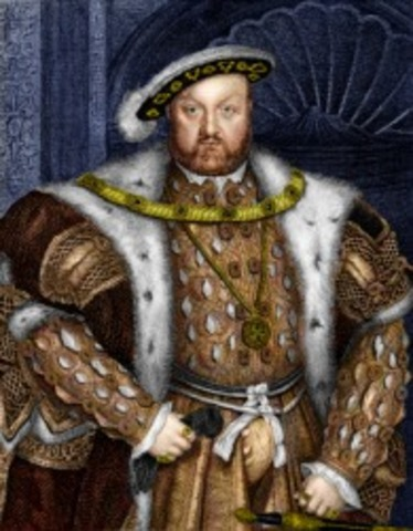 King Henry VIII took the throne.