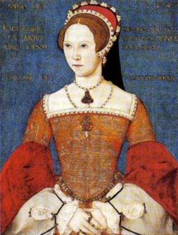 Mary Tudor was born
