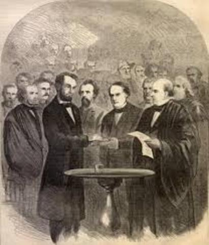 President Lincoln Inaugurated