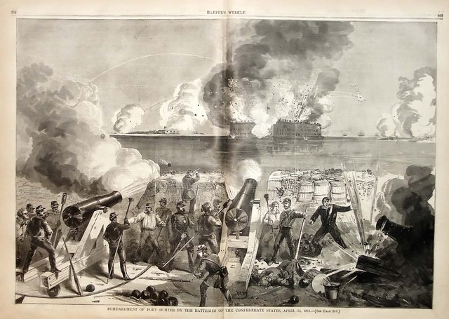 Confederate Troops Attack Fort Sumter