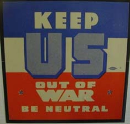 America Claims Neutrality at the start of WWI