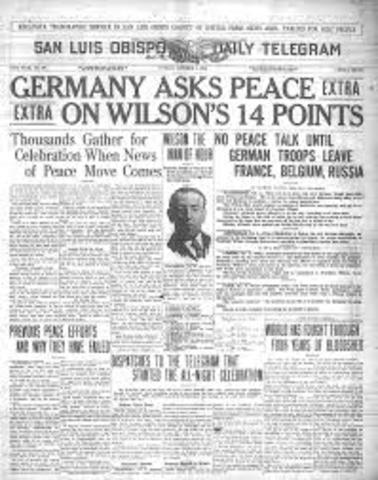 Germany and Allies Agree to 14 Points