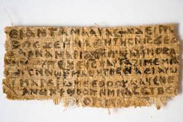 600 B.C. – Egyptian begin useing papyrus scrolls