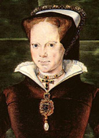 Mary Tudor took the throne