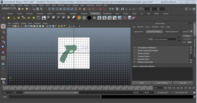 Modeling a Laser Gun