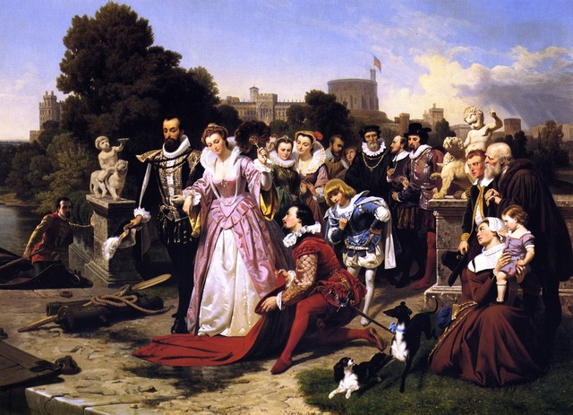 Queen Elizabeth and Sir Walter Raleigh