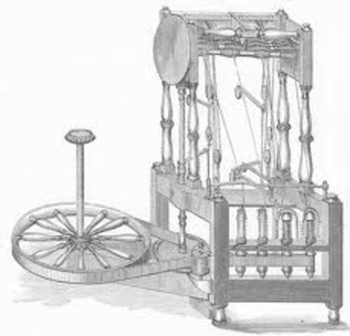James Hargreaves. Primera máquina de hilar. (spinning Jenny)