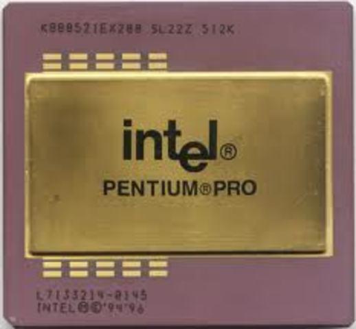 Pentium Pro Esta es la sexta generacion de los procesadores intel con mas ciclos de reloj