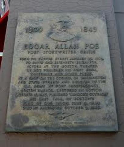 Edgar Allen Poe Born