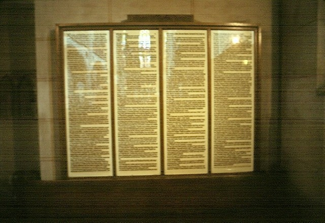 Martin Luther nails Ninety Five Theses