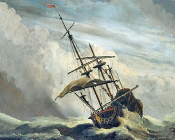Bad weather on the Mayflower
