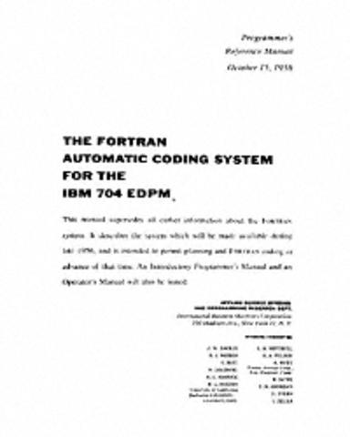 IBM 704 FORTRAN