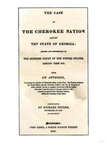 1831 Cherokee Nation v Georgia