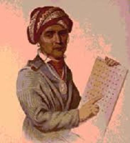 Sequoyah writes the Cherokee language
