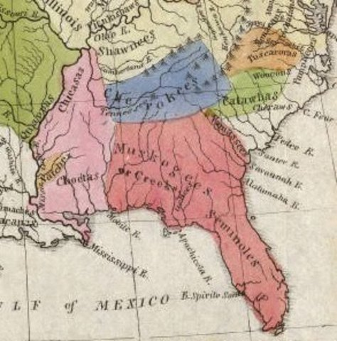 Choctaw, Creek and Chickasaw Removal