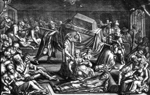 Den første store pestepidemi i Europa