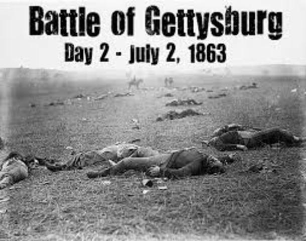 Day Two of the Battle of Gettysburg