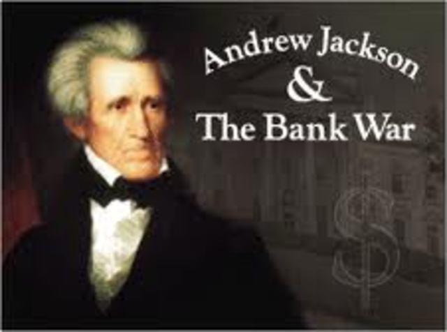 President Jackson vetos the 2nd national bank of america