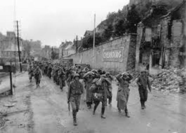 American forces loss battle Cherbourg.