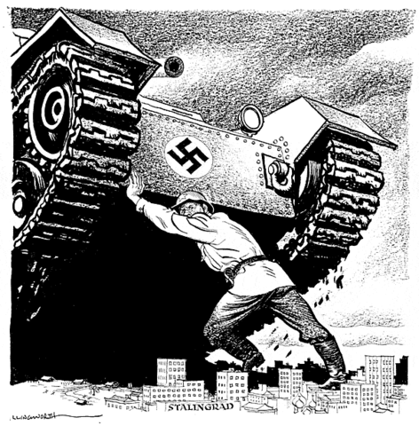 The end of the Battle of Stalingrad