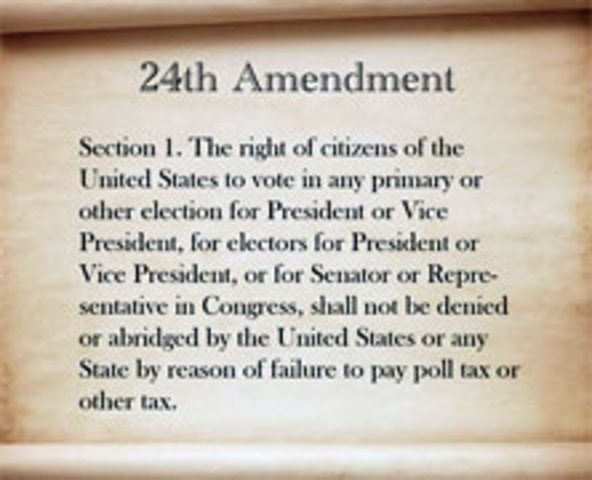 Passing of the 24th Amendment