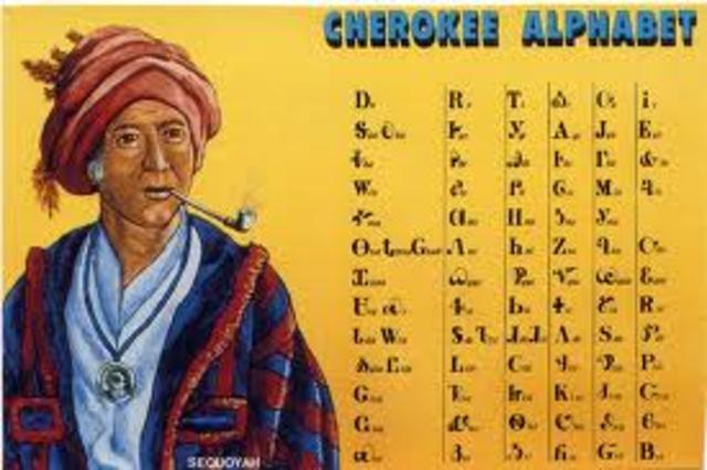 Sequoya finishes cheerokee language