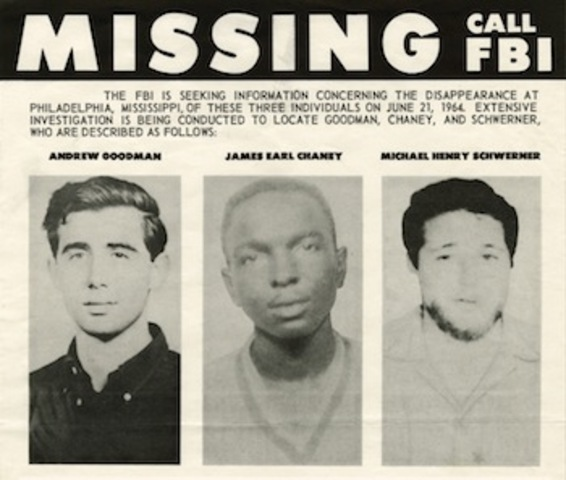Murders of James Chaney, Andrew Goodman, and Michael Schwerner