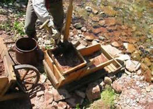Gold discovered in the Cherokee Nation America`s first gold rush