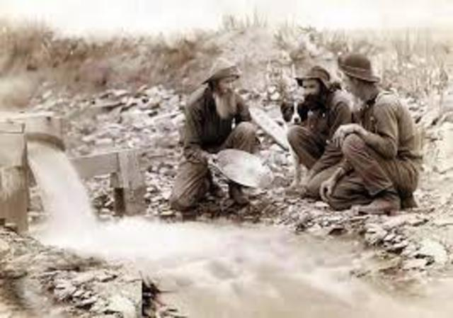 Gold is discovered in Cherokee Nation