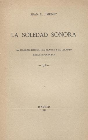 Primera etapa de Juan Ramón Jiménez