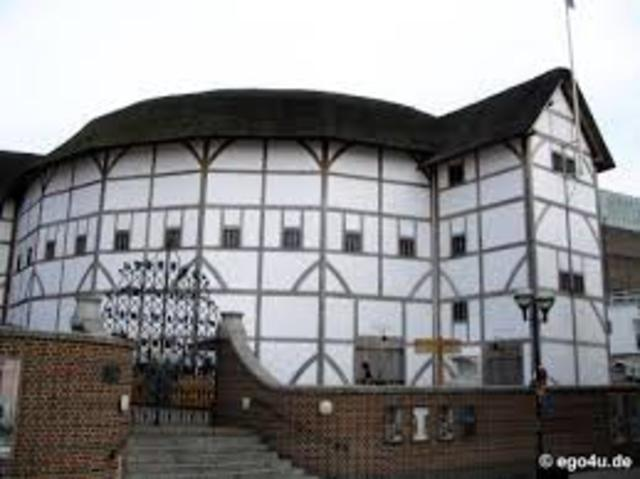 The Globe Theatre is built in London