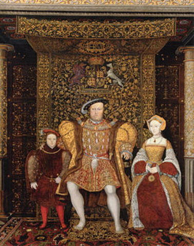 Henry VIII proclaims himself head of Church of England