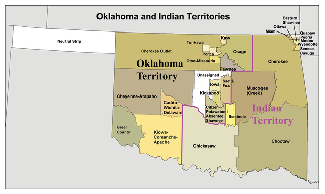 Choctaw, Creek and Cherokee Removal