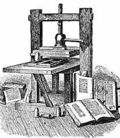 1450 – Gutenberg press
