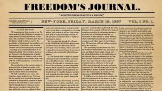 First African-American newspaper in US fredomes jounal