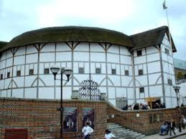 1599 Globe Theatre is built in London