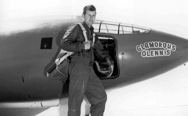 Chuck Yeager breaks the sound barrier
