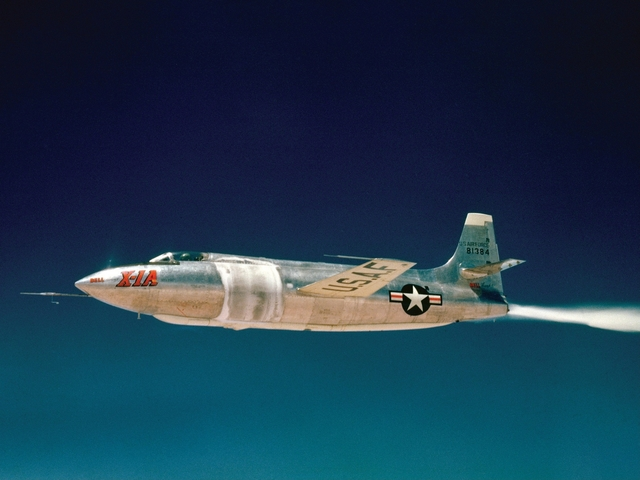 Chuck Yeager goes Mach 2.44