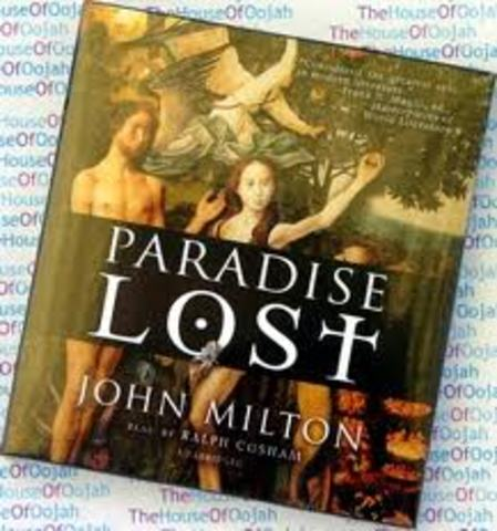1658 John Milton begins Paradise Lost