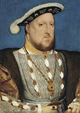1543 With the Supremacy Act, Henry VIII proclaims himself head of Church of England